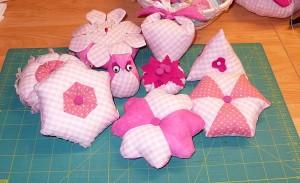 rózsaszín párnácskák